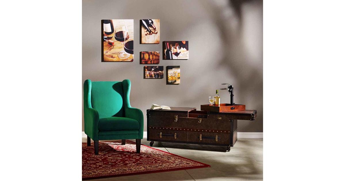 hemingway koffer asztal 123x62x57cm asztalok. Black Bedroom Furniture Sets. Home Design Ideas