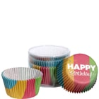 CUPCAKE muffin papír, Happy Birthday 75db
